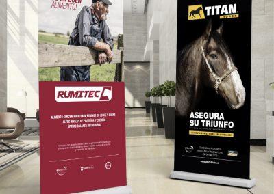 AEG NUTRICIÓN : Rumitec & Titanhorse - Pendón Roller