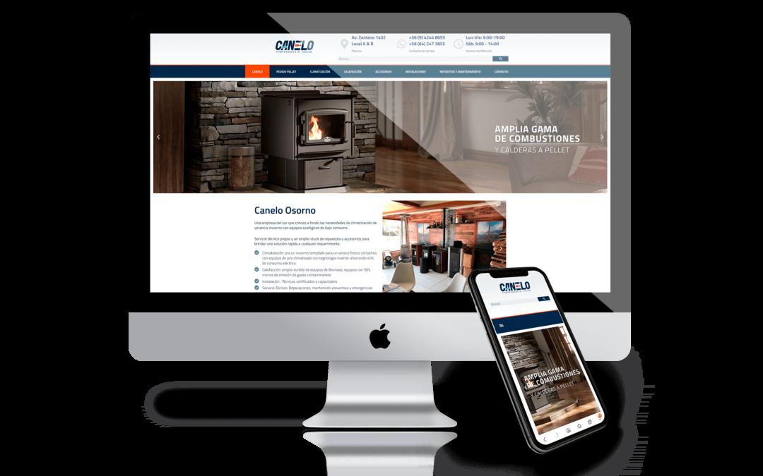 CANELO – Sitio Web & Catálogo de Productos